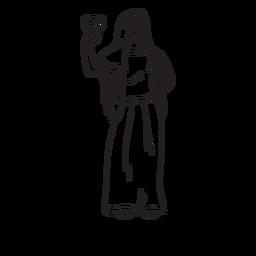 Esquema dibujado a mano Hestia
