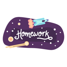 Homework space sticker icon