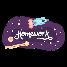 Ícone de etiqueta de espaço de lição de casa
