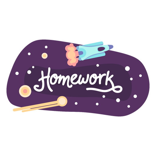 Homework space sticker icon Transparent PNG