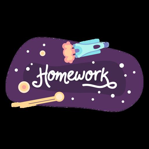 Homework space sticker icon