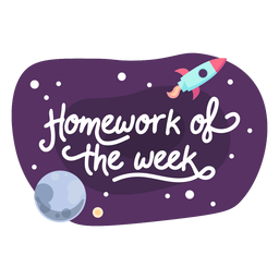 Homework week space sticker icon