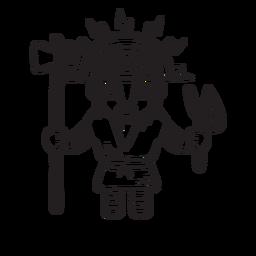 Esquema de la mitología inca de Illapa
