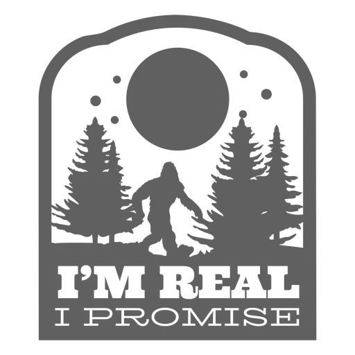 Soy real, prometo pegatina Bigfoot Transparent PNG