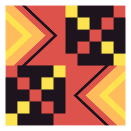 Kente cube composition