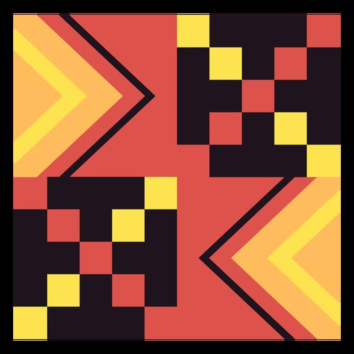 Kente cube composition Transparent PNG