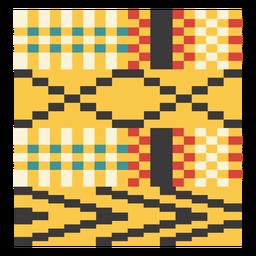 Composição de seta de pixel Kente