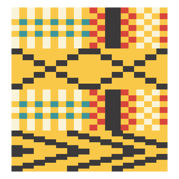 Kente pixel arrow composition