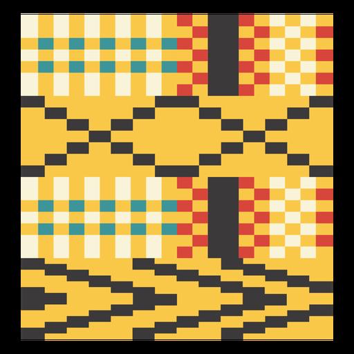 Kente pixel arrow composition Transparent PNG