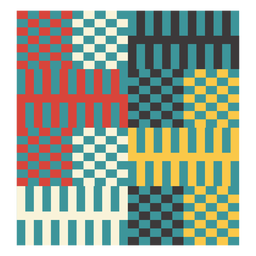 Kente pixel composition