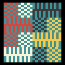 Kente Pixel Zusammensetzung