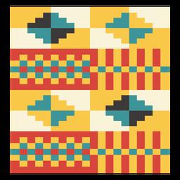 Composición de diamante Kente pixel