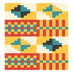 Kente pixel diamond composition