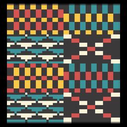Composición del triángulo de píxeles Kente