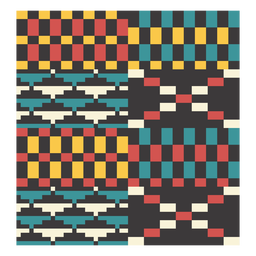 Kente pixel triangle composition