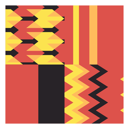 Kente wave composition
