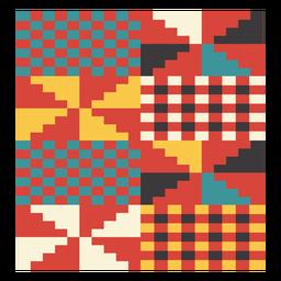 Composição de pixel do moinho de vento Kente