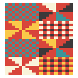Kente windmill pixel composition