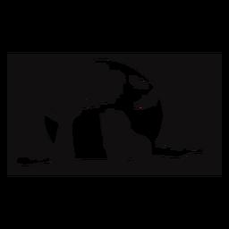 León safari atardecer recortado negro