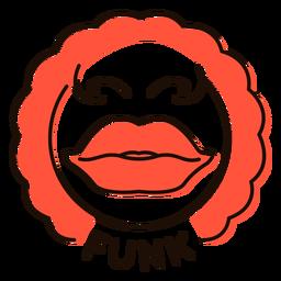 Lips funk music symbol