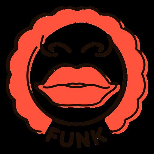 Labios símbolo de la música funk