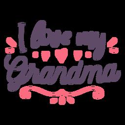 Love grandma lettering