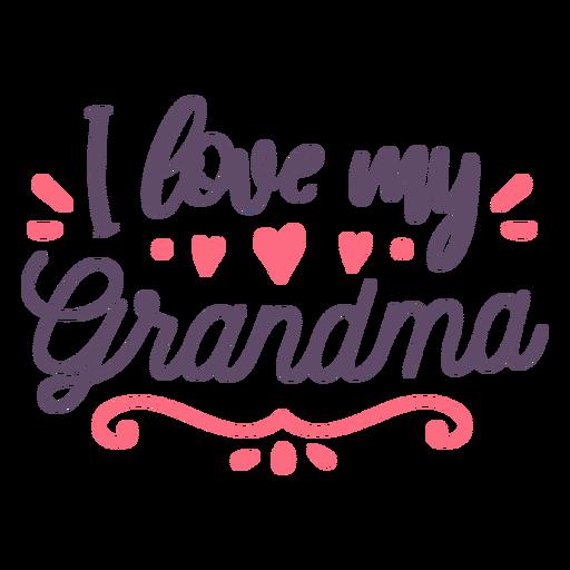 Love grandma lettering Transparent PNG