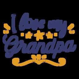 Love grandpa lettering