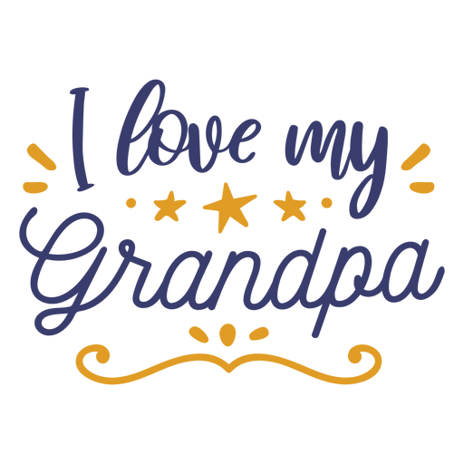 Love grandpa lettering Transparent PNG