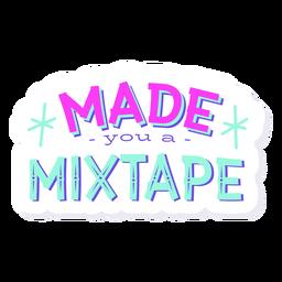 Te hizo letras mixtas