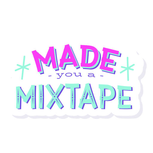 Made you mixtape lettering Transparent PNG
