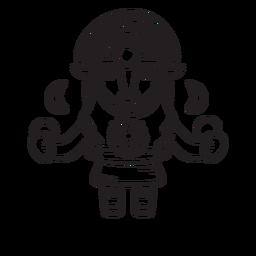Esboço mitológico de Mama quilla inca