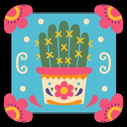 Símbolo de maceta de cactus mexicano