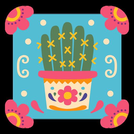 Símbolo de maceta de cactus mexicano Transparent PNG