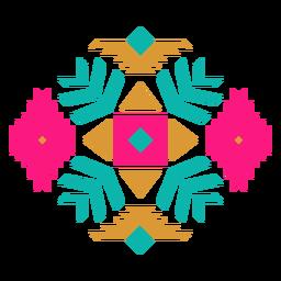 Composição geométrica de diamante mexicano