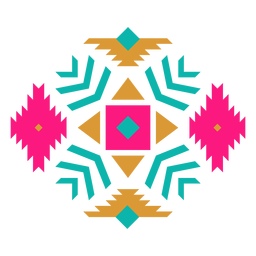Mexican diamond geometric composition