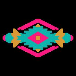 Composição geométrica de diamante mexicano geométrico