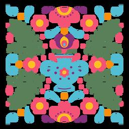 Composição floral mexicana