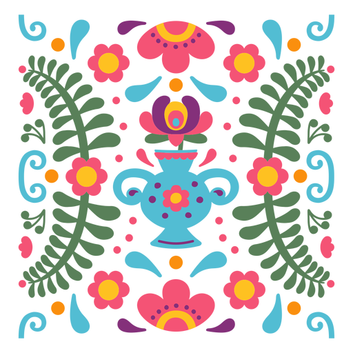 Mexican floral composition