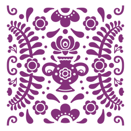 Composição floral mexicana papel picado