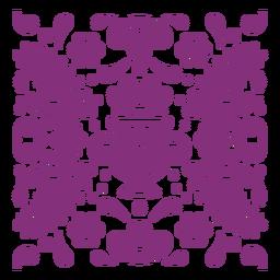 Composición floral mexicana papel picado