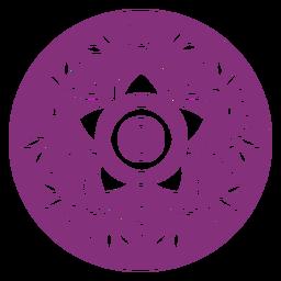 Hojas florales mexicanas círculo papel picado