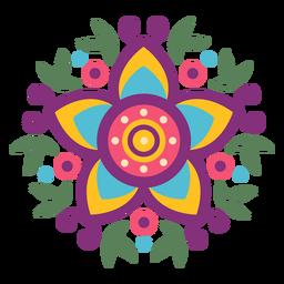 Símbolo de hojas florales mexicanas