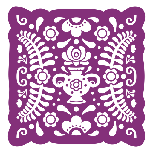 Mexican floral papel picado Transparent PNG