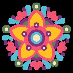 Composición de símbolo floral mexicano