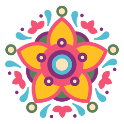 Mexican floral symbol composition