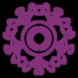 Símbolo floral mexicano papel picado