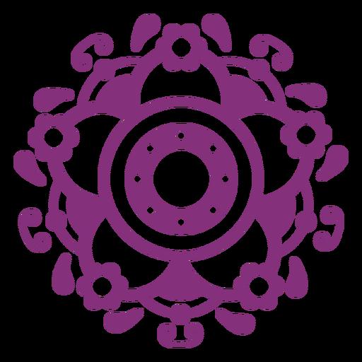Símbolo floral mexicano papel picado Transparent PNG