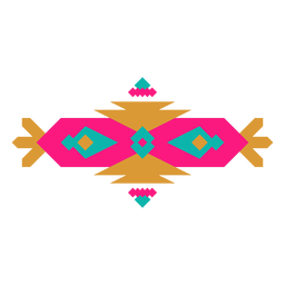 Mexican geometric banner composition