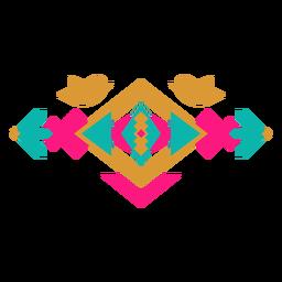 Composición de aves geométricas mexicanas